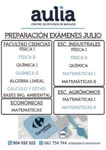 Preparación Exámenes Julio